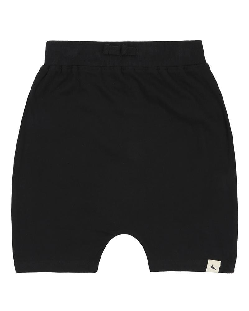 Drop Crotch Shorts - Black - Turtledovelondon
