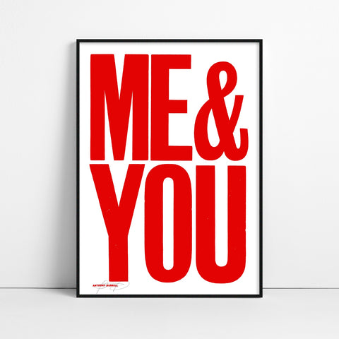 ME & YOU Screen Print red