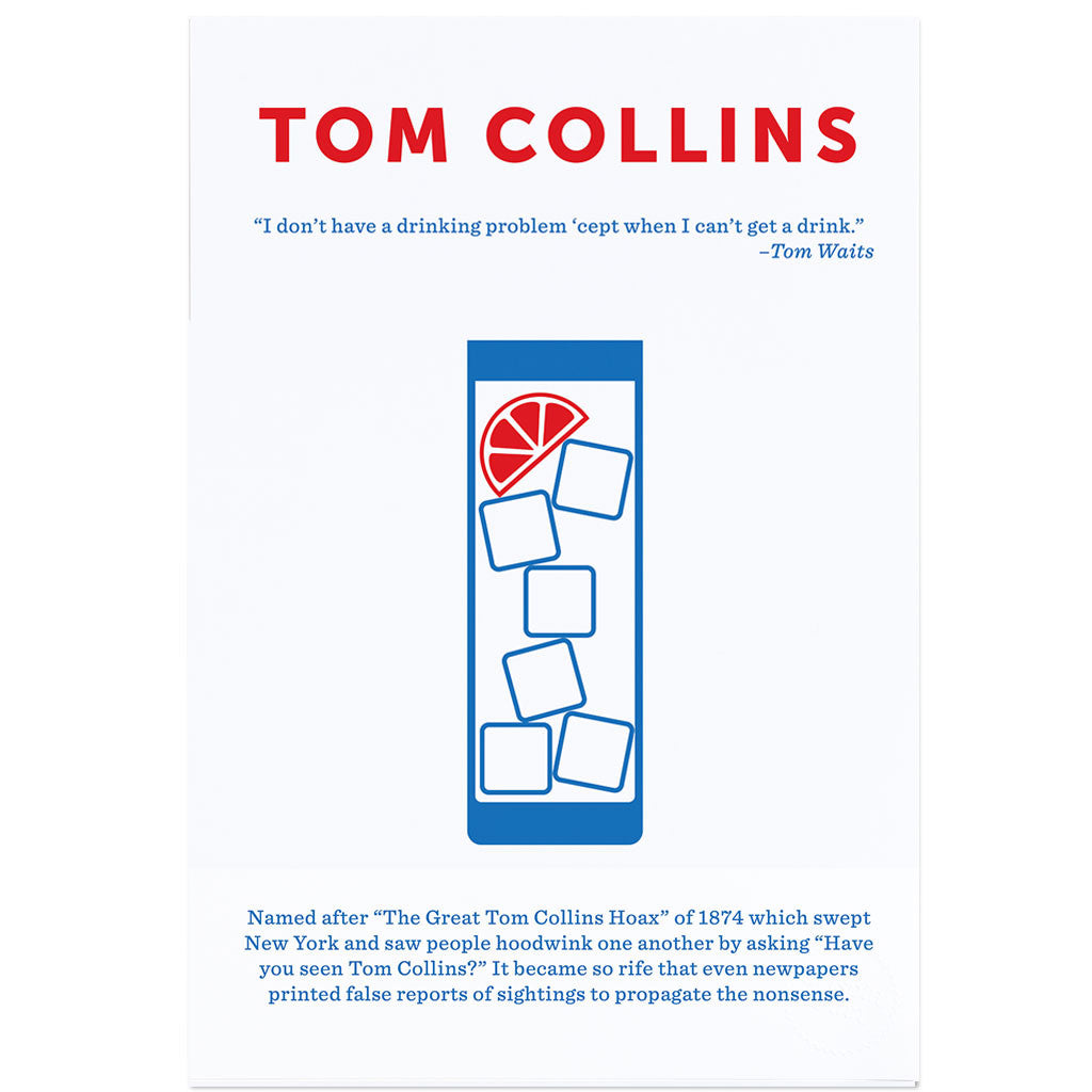 Crispin Finn Tom Collins screen print