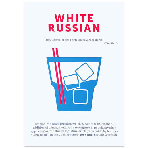 Crispin Finn White Russian screen print