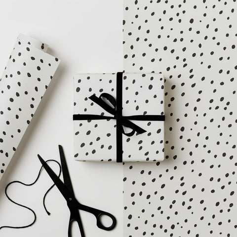 Black Dot Wrapping Paper