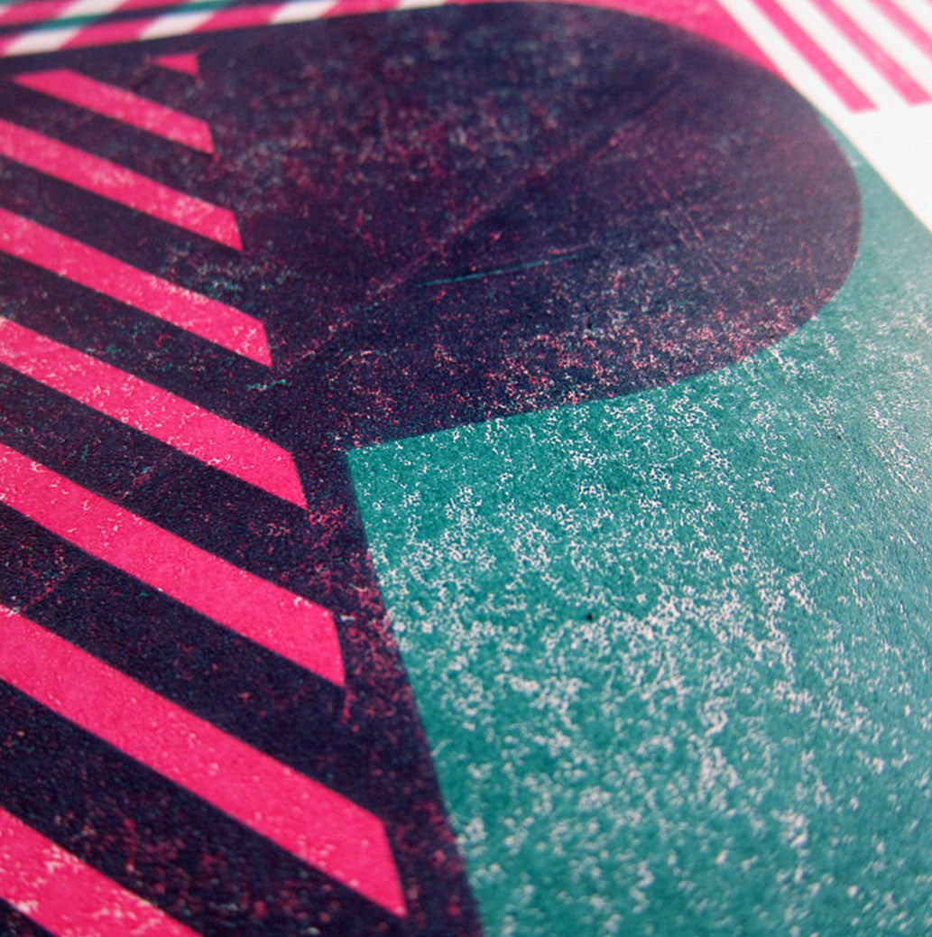 Close up of Jame Brown Delta D print