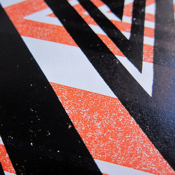 Close up of James Brown Victor V print