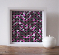 Framed Brush screen print no.3