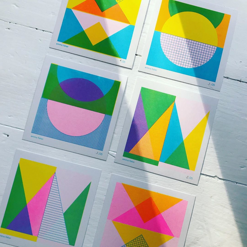 Mini Riso Print Set of 6