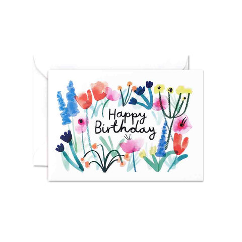 Wrap Happy Birthday Floral gift card