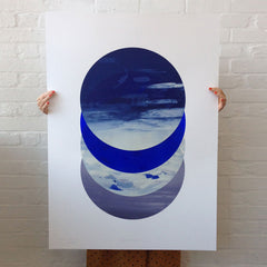 Chromatecliptix Primary Blue no. 3 Print