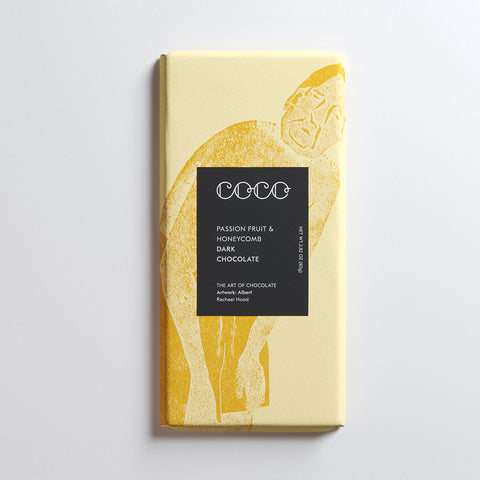 Passion Fruit & Honeycomb Dark Chocolate Bar