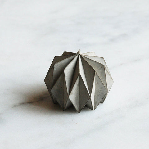 Origami Concrete Paperweight
