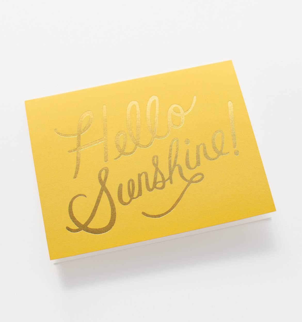 Angled shot of Rifle Paper Co Hello Sunshine! gift card
