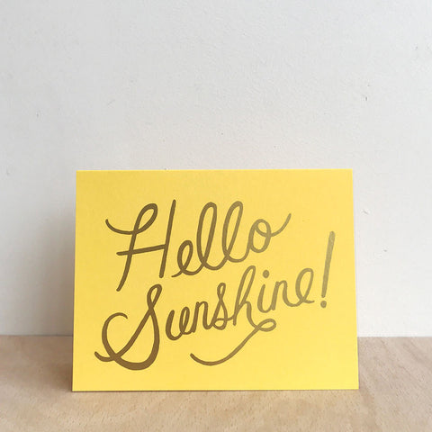 Hello Sunshine! Greetings Card