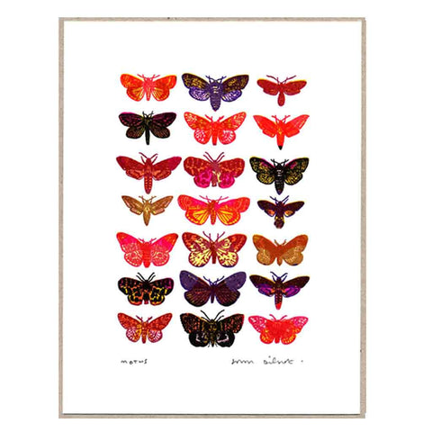 John Dilnot Pink Moths mini print