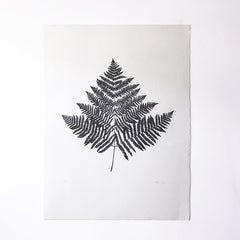 Large Fern Leaf Lino Print