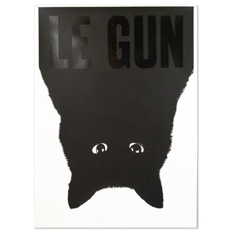 Le Gun Cat screen print