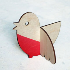 Ornamental Christmas Robin Decoration