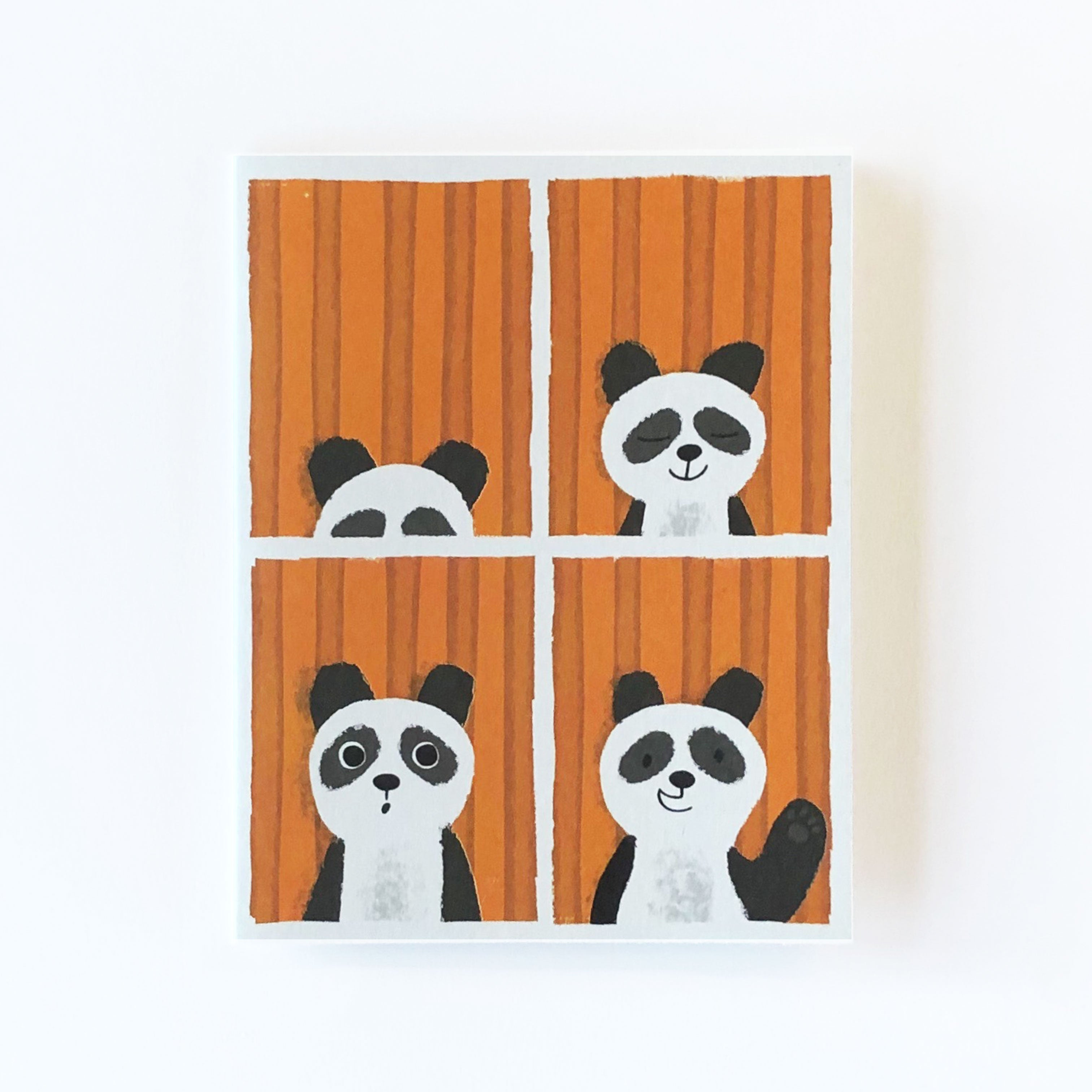Panda Passport Greetings Card