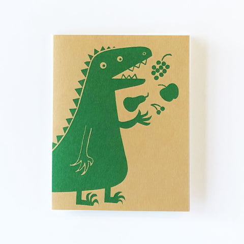 Vegesaurus Greetings Card