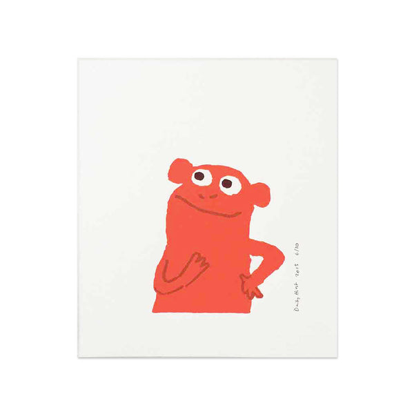 Daisy Hirst Monkey Hmm mini print in red
