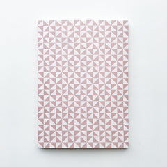 Medium Notebook Pink Kaffe Pattern