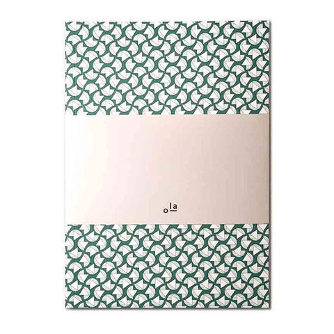 Medium Notebook Green Pattern