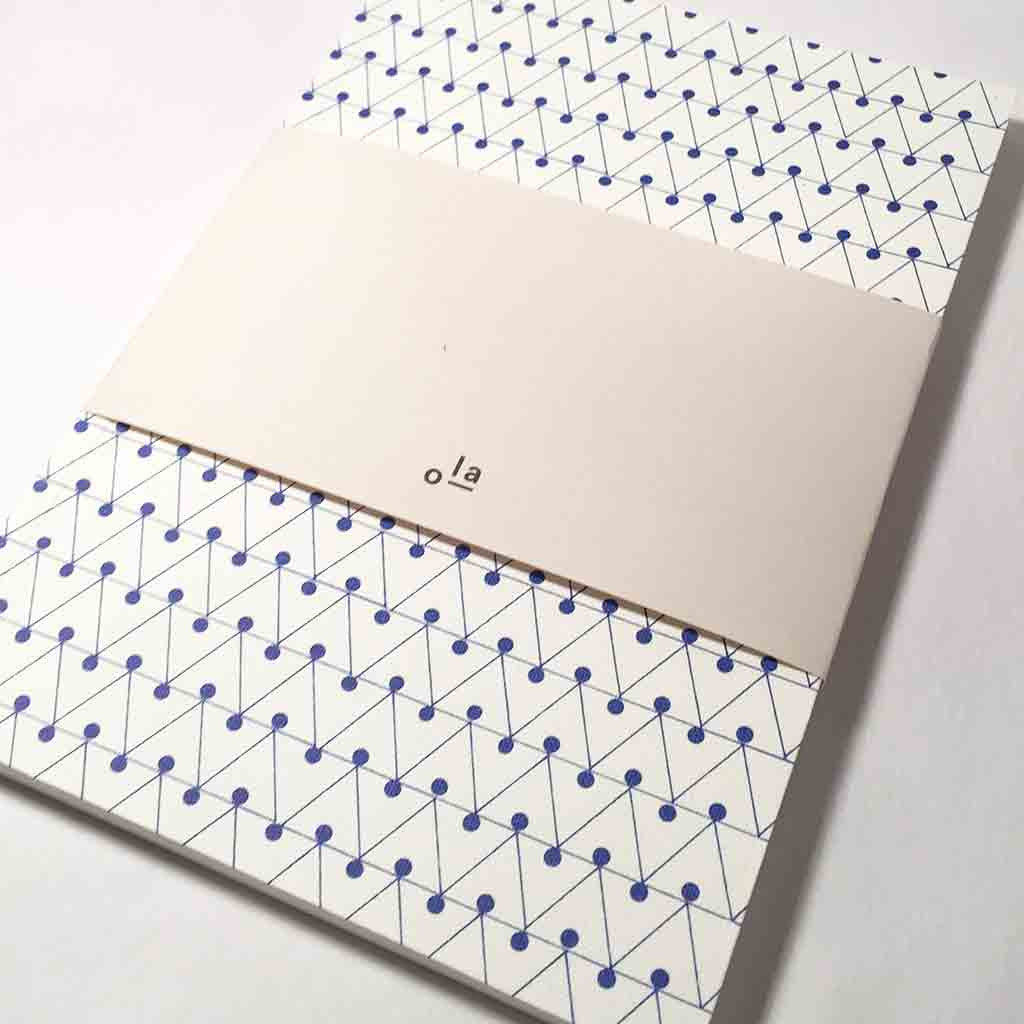 Ola Notebook Dash Print Blue