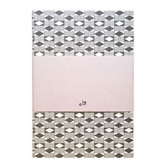 Medium Notebook Grey Diamond Pattern