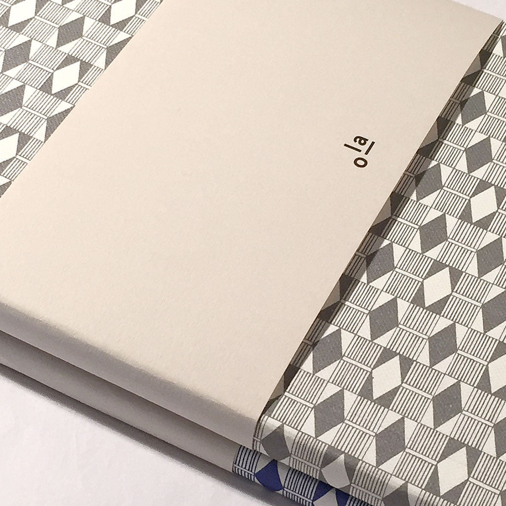 Ola Diamond grey print notebooks