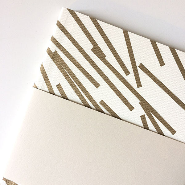 Medium Notebook Gold Pattern