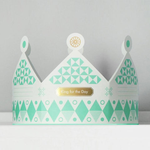 King for the Day Crown Card