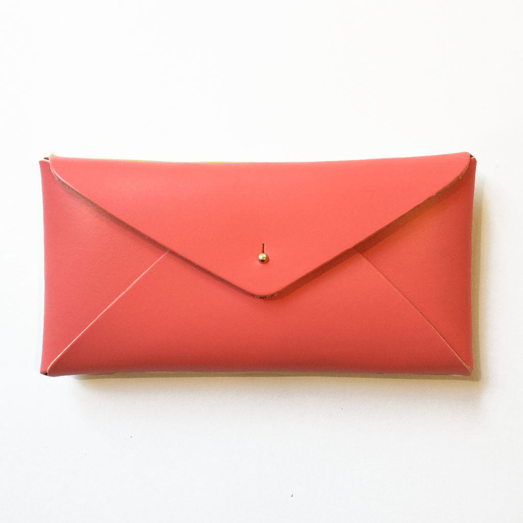 Leather Embossed Envelope Case Watermelon