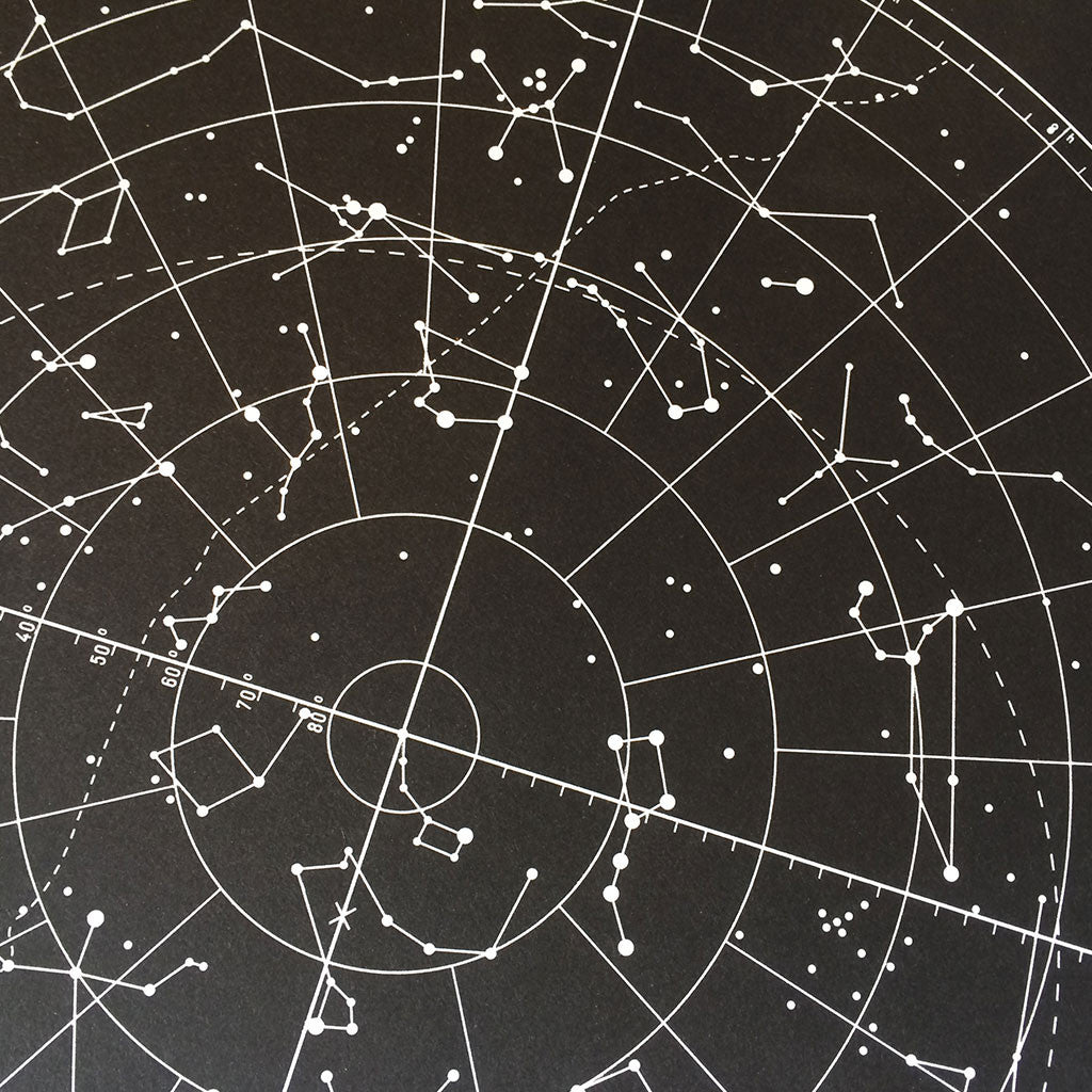 Star Chart print close up 1