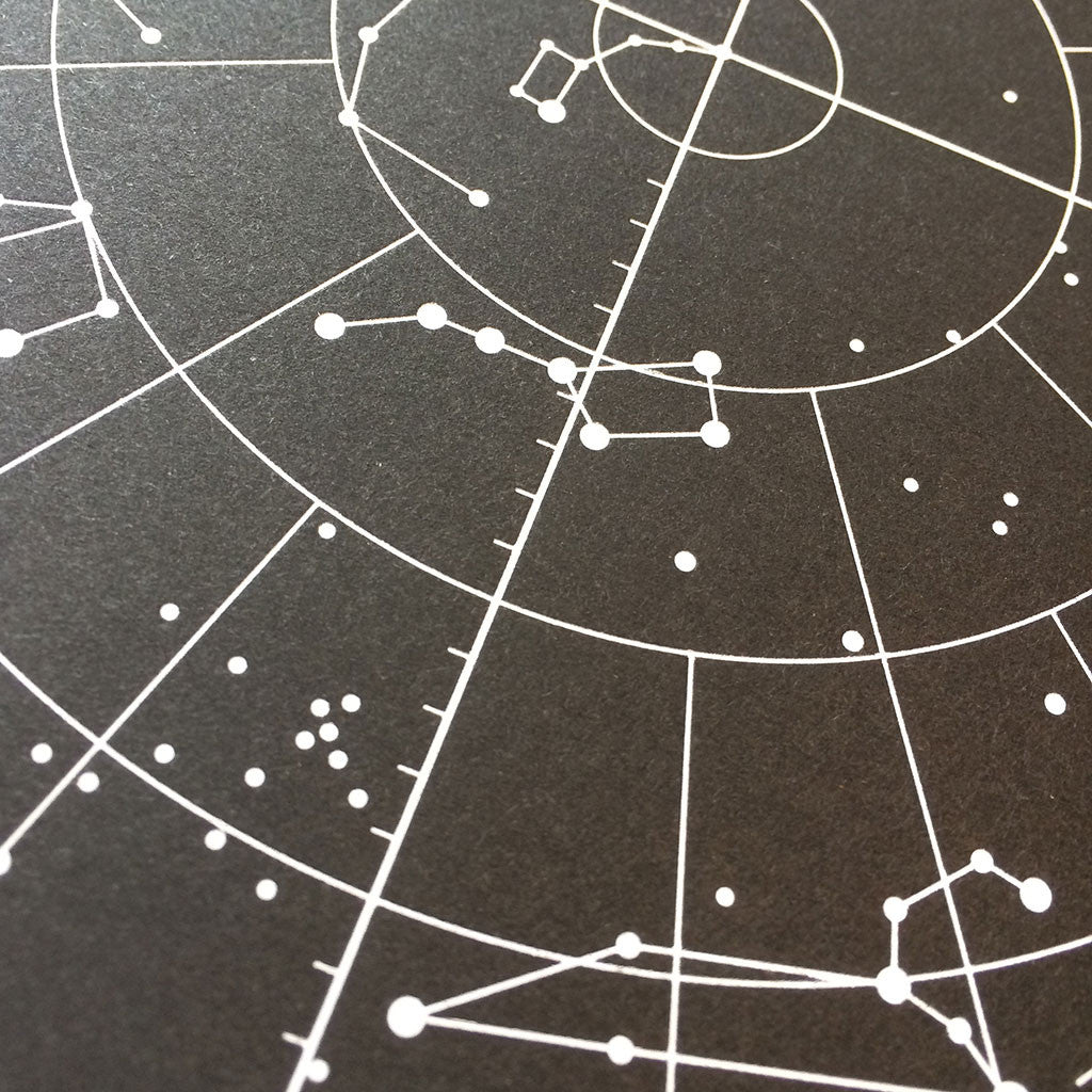 Star Chart print close up 2