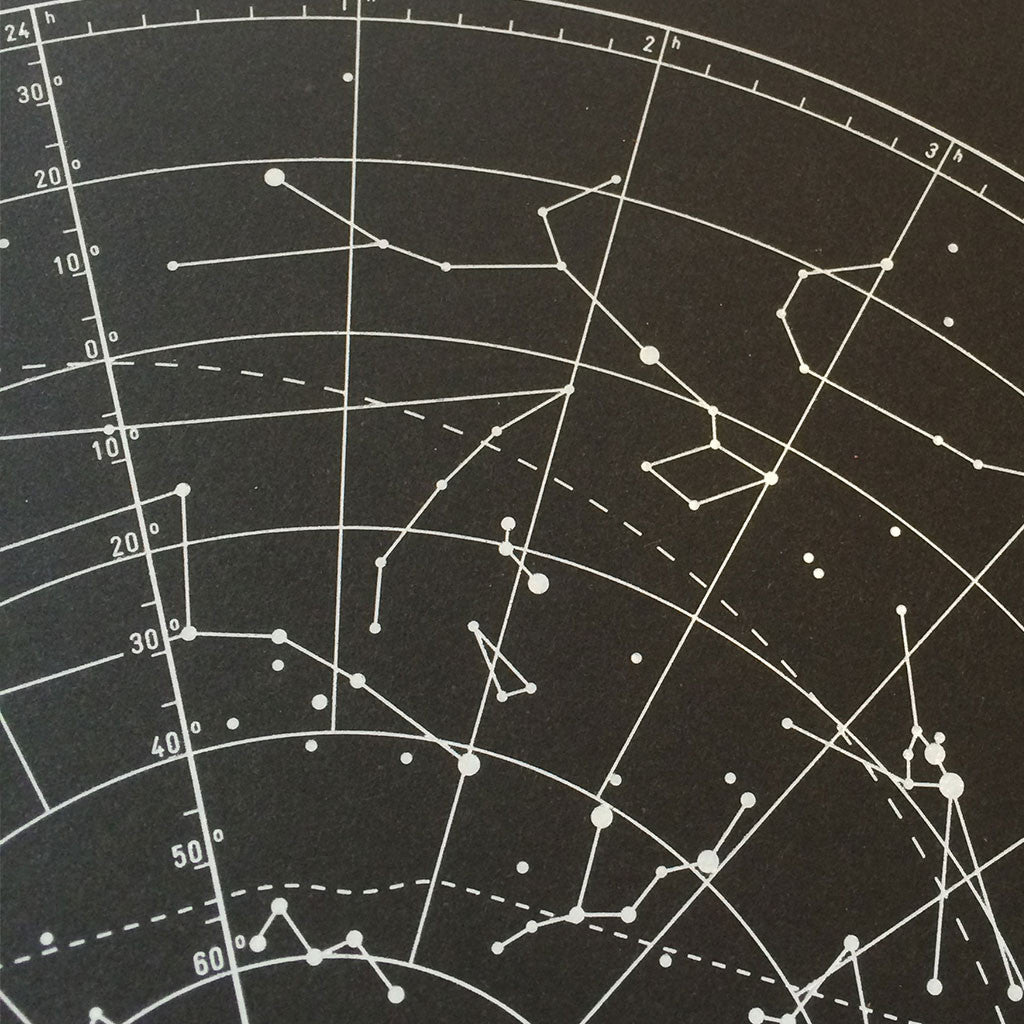 Star Chart print close up 4