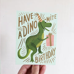 Dino-mite Birthday Greetings Card