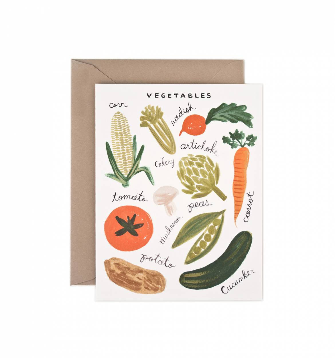 Rifle Paper Co Vegetables card