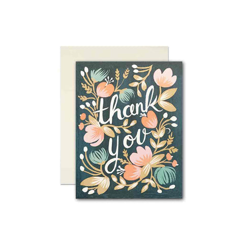 Rifle Paper Co Midnight Garden Thank You gift card
