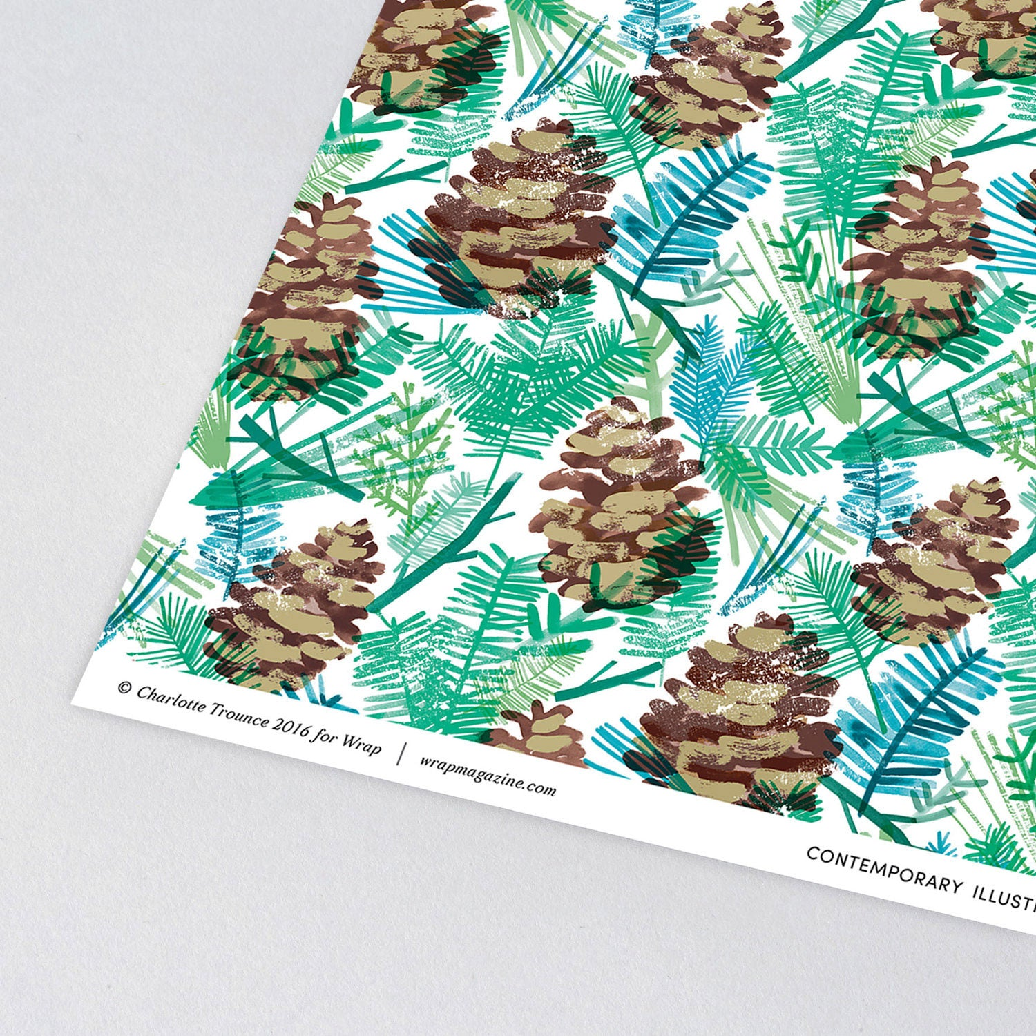 Pine Cones Wrapping Paper