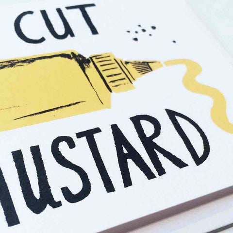 Close up of Wrap Cut The Mustard gift card