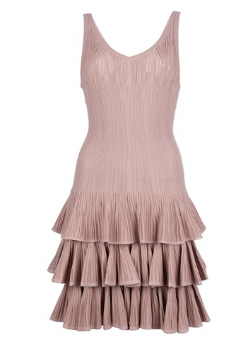 Azedine alaia tiered dress