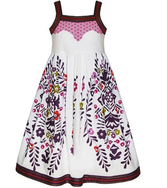 Embroidered White Summer Dress