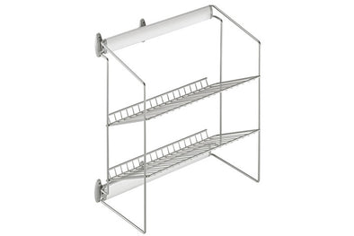 Wardrobe Pull-Out Shoe Rack 2-Tier Silver Finish