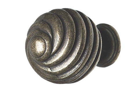 Hafele Twister Antique Brass Effect 30mm Cabinet Knob