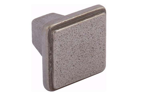 Hafele Burlington Cast Iron Square Cabinet Knob