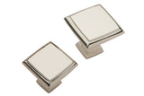 Hafele Wellington Polished Nickel Square Cabinet Knob