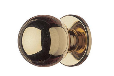 Hafele Polished Brass 20mm Cabinet Knob