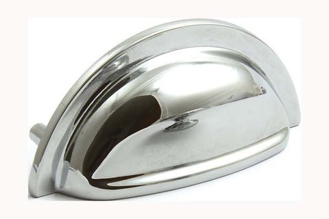 Hafele Henrietta Polished Chrome Finish Cup Cabinet Handle