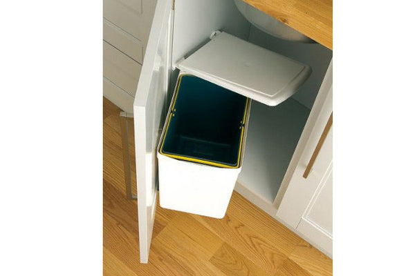 PWS White 16 Litres Under Sink Waste Bin