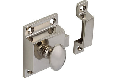 Cupboard catch polished nickel
