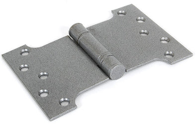"From the Anvil 4''x4"" Ball Bearing Parliament Hinge SS (pair) - Pewter"