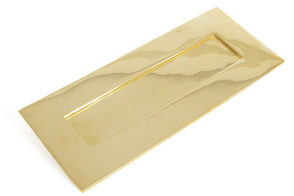 From the Anvil Polished Brass Letterplate - Small